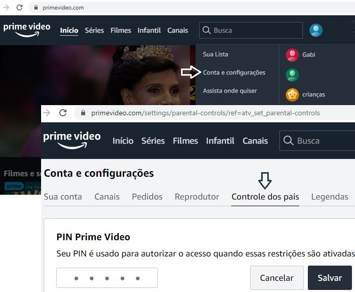 Impedir compras de canais Prime Video: adicione um PIN (Imagem: Reprodução/Gabrielle Lancellotti)