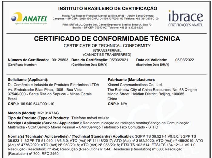 Anatel homologa o Redmi Note 10 (Imagem: Reprodução/Tecnoblog)