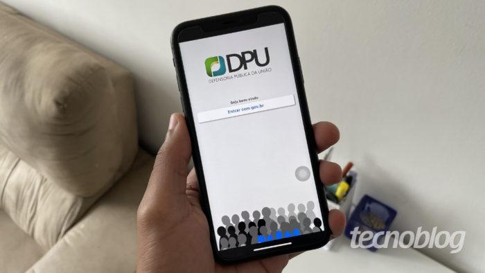Aplicativo DPU Cidadão, da Defensoria Pública da União (Imagem: Darlan Helder/Tecnoblog)