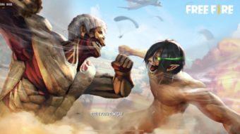 Crossover com anime Attack on Titan estreia em Free Fire