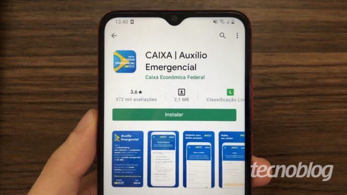 Aplicativo do Auxílio Emergencial (Imagem: Lucas Lima/Tecnoblog)