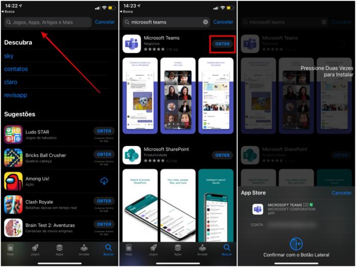 Como baixar o Microsoft Teams no iOS (Imagem: Reprodução/App Store)