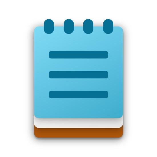 Novo símbolo do Bloco de Notas (imagem: divulgação/Microsoft)