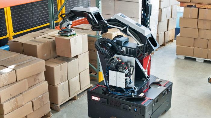 Robô Stretch, da Boston Dynamics (Imagem: Divulgação/Boston Dynamics)