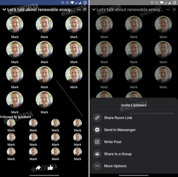 Clone do Facebook para o Clubhouse (Imagem: Reprodução/Alessandro Paluzzi)
