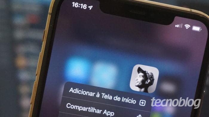 Clubhouse no iPhone (Imagem: André Fogaça/Tecnoblog)