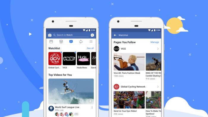 App do Facebook Watch no celular (Imagem: Divulgação/Facebook) / Como assistir live no Facebook