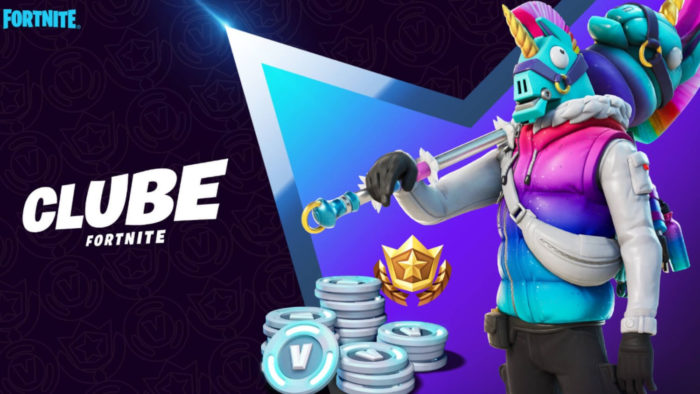 Clube Fortnite dá direito ao Passe de Batlaha, além de 1.000 V-Bucks e uma skin por mês (Imagem: Divulgação/Epic Games)