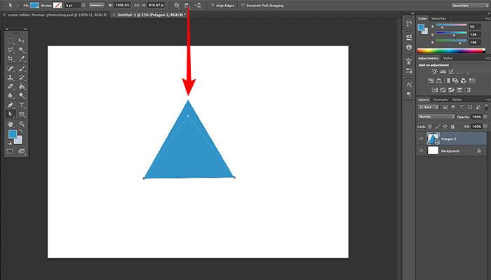 Editando vértices de formas