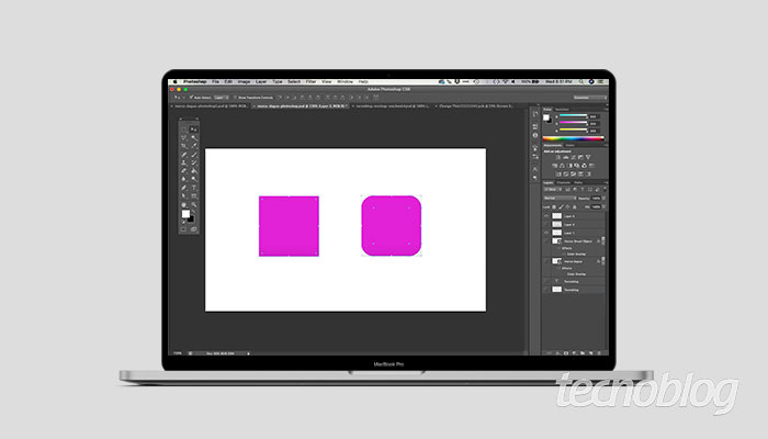 Como editar formas no Photoshop