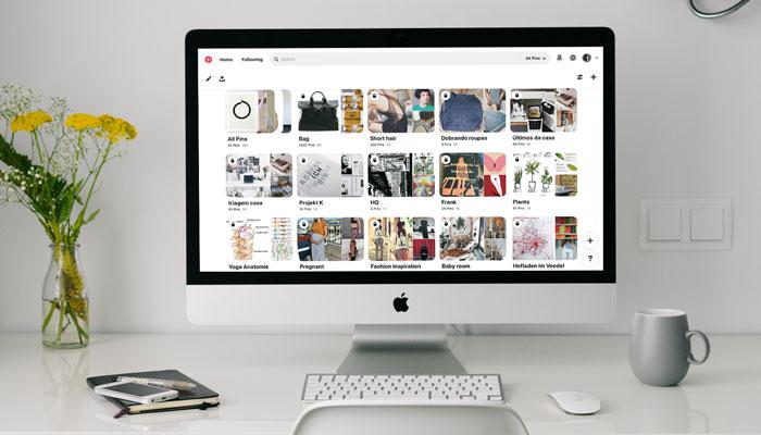 Criando board no Pinterest