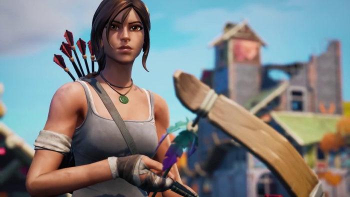 Lara Croft, de Tomb Raider, está em Fortnite (Imagem: Reprodução/Epic Games)