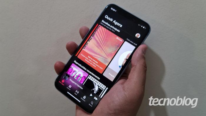 Apple Music no iPhone (Imagem: Ronaldo Gogoni/Tecnoblog)