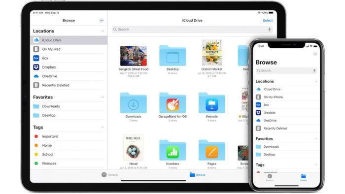 iCloud Drive no iPad e iPhone (Imagem: Divulgação/Apple)