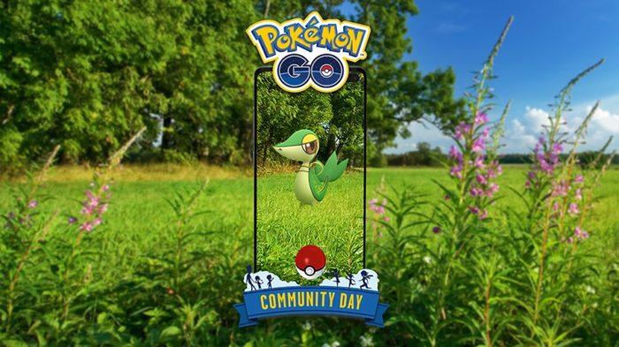 Snivy estrela o Dia Comunitário de abril em Pokémon Go (Imagem: Divulgação/Niantic)