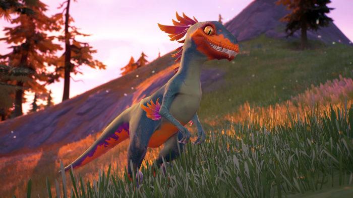 Velociraptor em Fortnite (Imagem: Reprodução/Twitter @FortniteBRFeed)