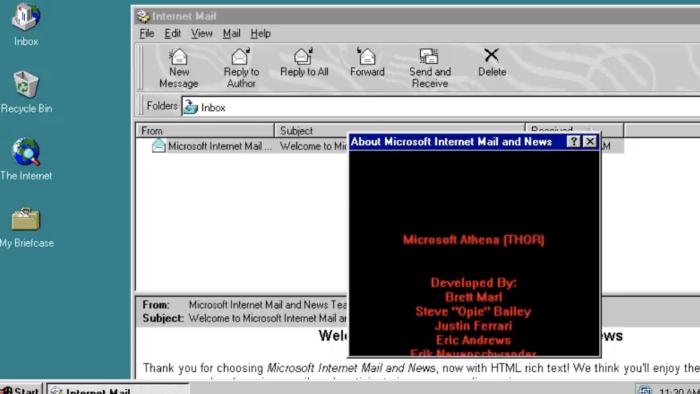 Easter egg encontrado no Windows 95 (Imagem: reprodução/Albacore)