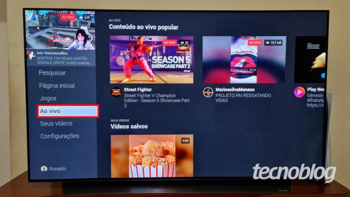 App do Facebook Watch em Smart TV (Imagem: Ronaldo Gogoni/Tecnoblog)