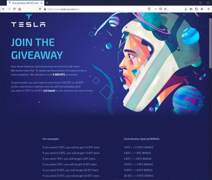 Site onde os golpistas detalham o funcionamento das falsas premiações (Imagem: Reprodução/BleepingComputer)
