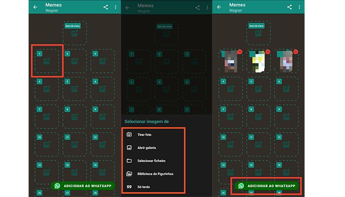 Processo para importar figurinhas animadas para o WhatsApp (Imagem: Reprodução/Sticker Maker)