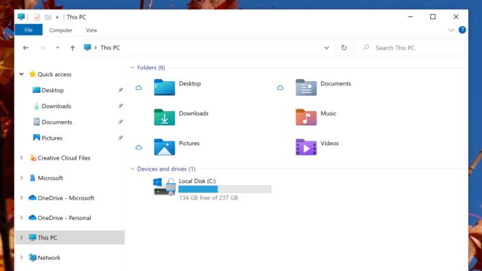 Novos ícones do Windows 10 (Imagem: Divulgação/Microsoft)