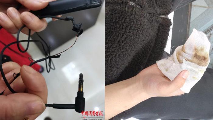 Sony WH-1000XM2 queimado (Imagem: Reprodução/China Consumer News)