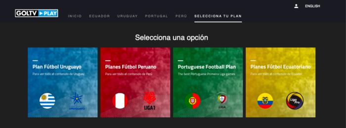 Planos de assinatura do GolTV Play (Imagem: Reprodução/Site GolTV Play)