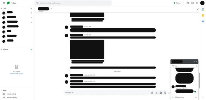 Google Chat (Imagem: Reprodução/9to5Google)