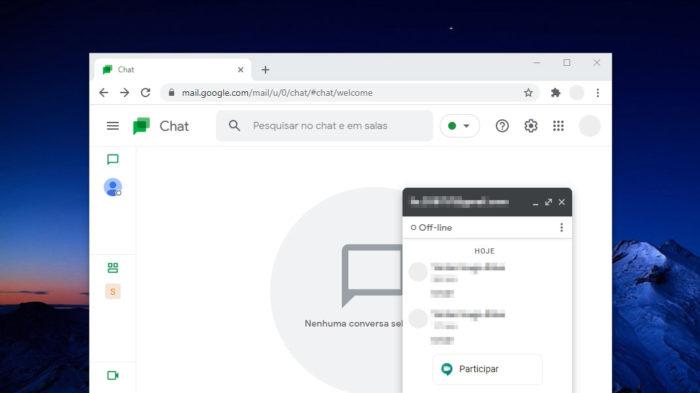 Google Chat no navegador (Imagem: Reprodução)
