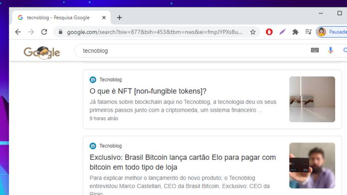 Google Notícias (Imagem: Reprodução/Google)