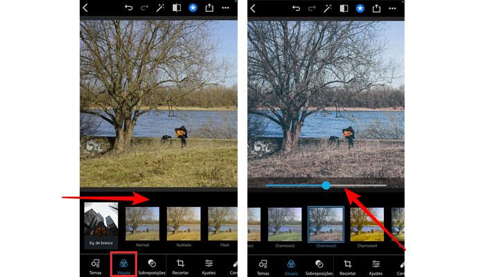 Trabalhando com filtros no Photoshop Express