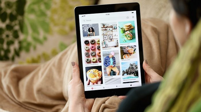 Aplicativo do Pinterest (Imagem: Divulgação/Pinterest)