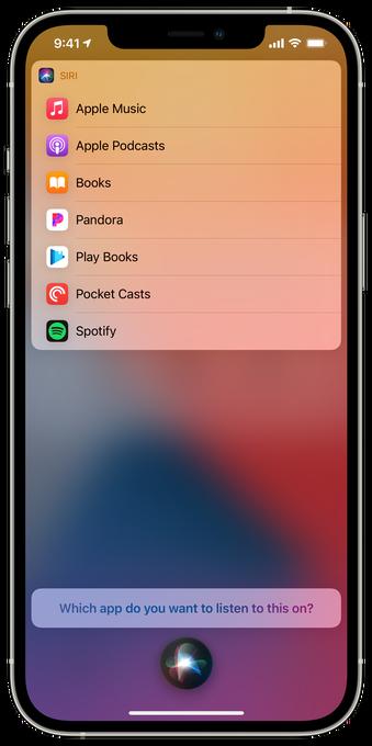 Siri sugerindo app de música (Imagem: Reprodução/TechCrunch)