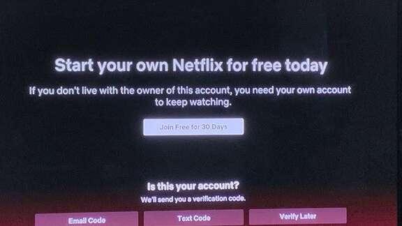 Código de verificação da Netflix