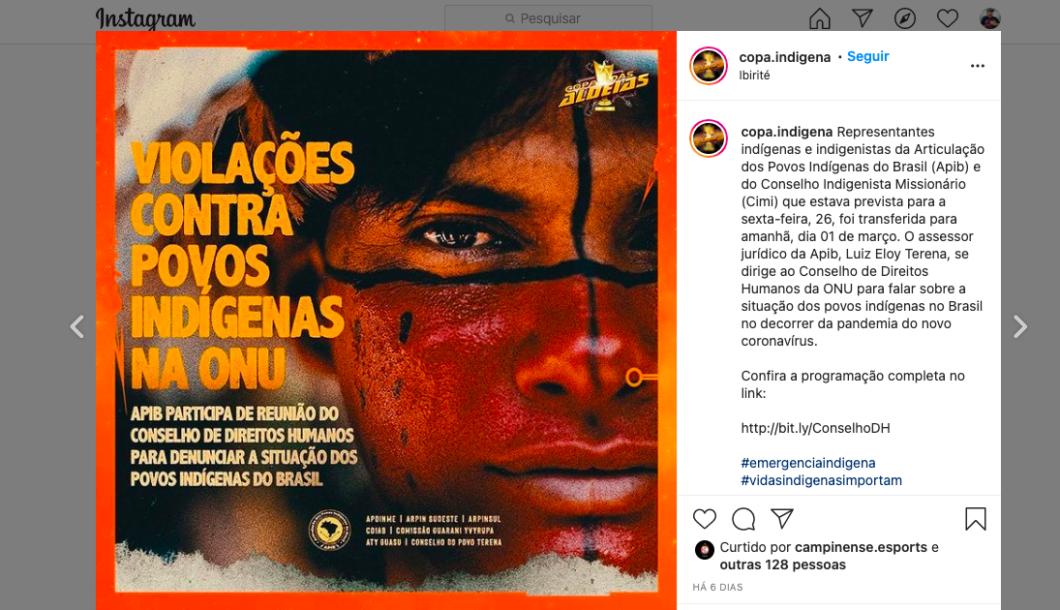 Iniciativa também visa apoiar defesas e divulgações de causas indígenas (Imagem: Reprodução)