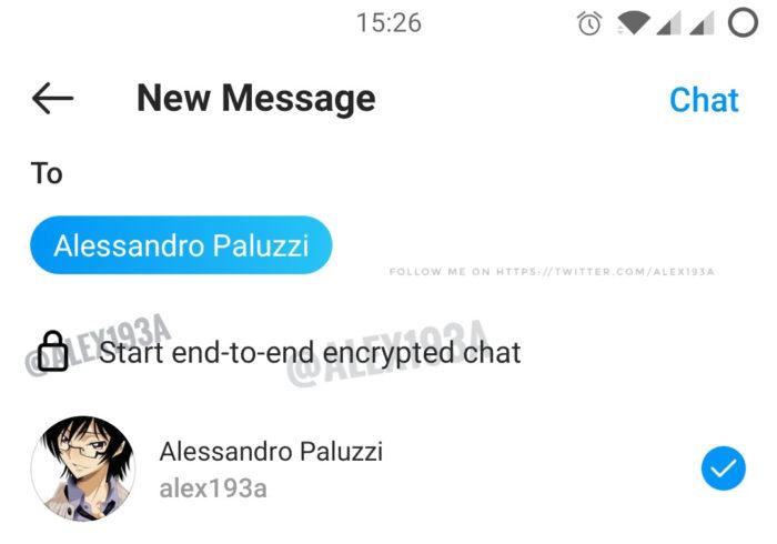 Instagram trabalha em criptografia de ponta a ponta (Imagem: Reprodução/Alessandro Paluzzi)