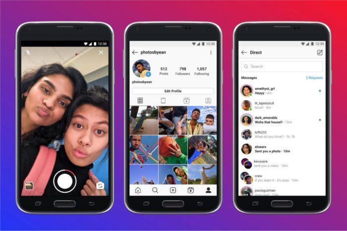 Interface dos botões muda no Instagram Lite (Imagem: divulgação/Instagram)