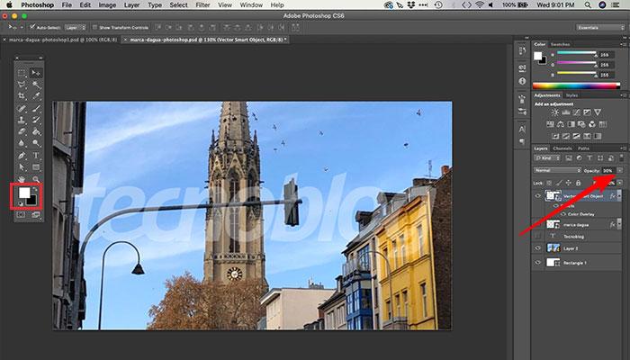Criando alternativa simples de marca d'água no Photoshop
