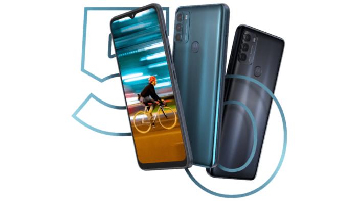 Motorola Moto G50 com Snapdragon 480 5G anunciado em março (Imagem: Divulgação/Motorola)