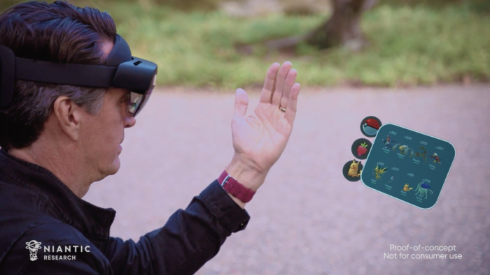 Conceito de Pokémon GO no HoloLens 2 (Imagem: Divulgação/Niantic)