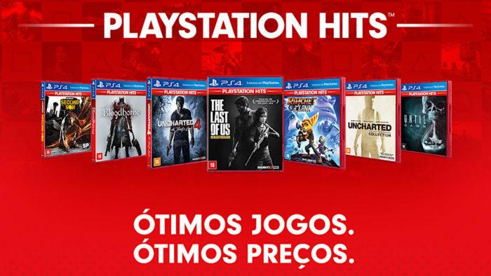 Títulos do selo PlayStation Hits para PS4 (Imagem: Divulgação/Sony)
