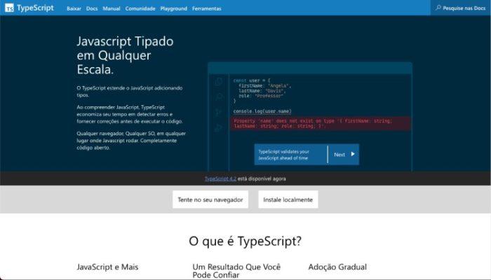 O que é TypeScript? / Reprodução