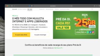 Oi lança plano pré-pago com 25 GB de internet por R$ 25 mensais