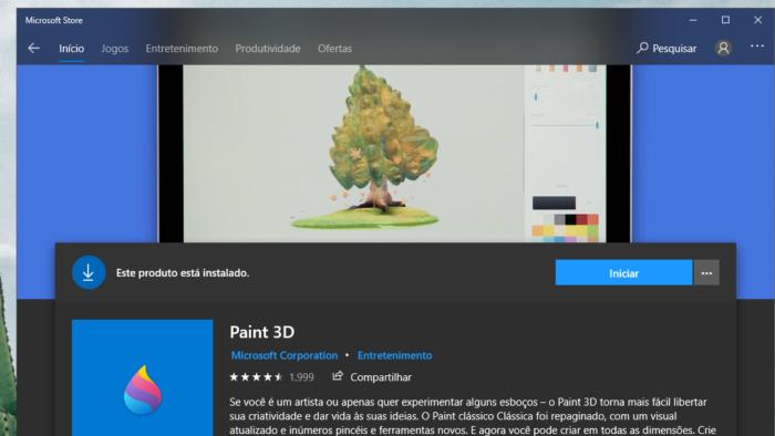 Paint 3D (Imagem: Reprodução/Tecnoblog)