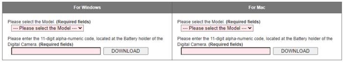 Configurações do software Lumix da Panasonic
