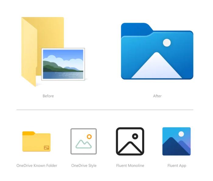 Novos ícones para pastas no Windows 10 (Imagem: Divulgação/Microsoft)
