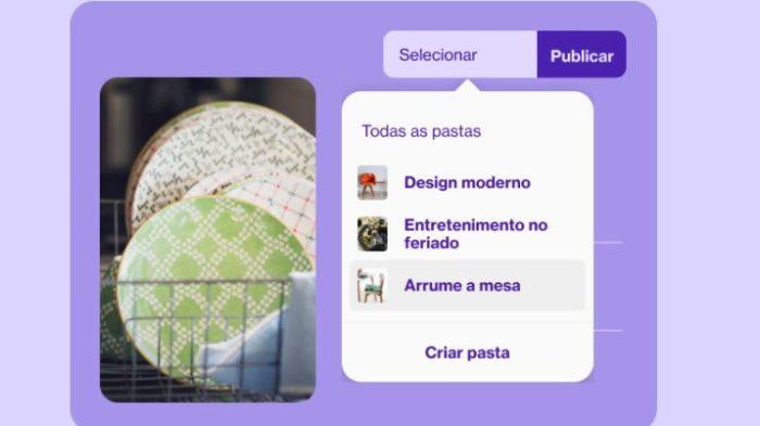 O Pin é um recurso do Pinterest para salvar conteúdos de interesse (Imagem: Divulgação / Pinterest)
