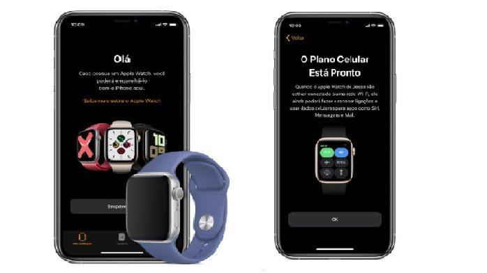 Ative a rede celular no seu Apple Watch pelo aplicativo no iPhone (Imagem: Divulgação / Apple)