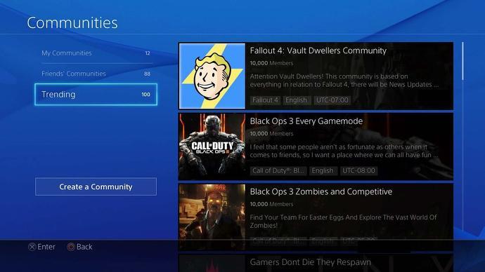 PS4 dá adeus a comunidades (Imagem: Reprodução/Eurogamer)