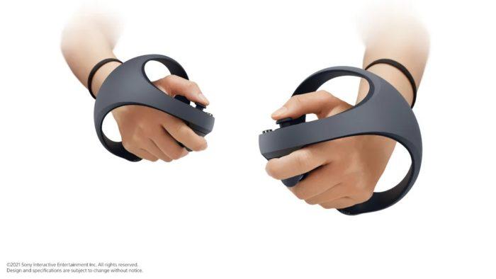 Este é o controle do PSVR 2 (Imagem: Divulgação/Sony)